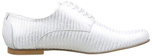 Zapatos blanc Mujer Blanc Elizabeth Stuart Derby Issio para Cordones de qRnEwCH