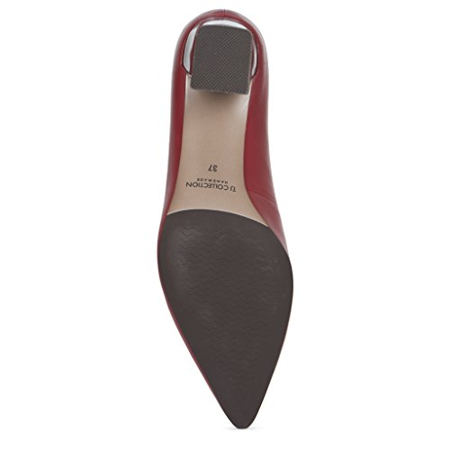 Leather Courts Women's Heel TJ Block Collection XEpXqS