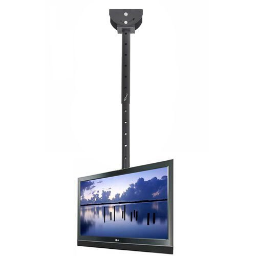 VideoSecu Adjustable Ceiling TV Mount Fits most 26-55″ LCD LED Plasma Monitor Flat Panel Screen Display with VESA 400×400 400×300 400×200 300×300 300×200 200×200 200x100mm MLCE7 1OB