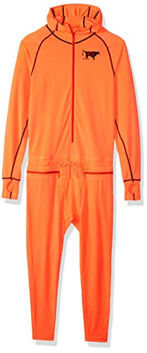 Hot Coral Apparel - AIRBLASTER Men's Hooded Outdoor Base Layer Ninja Suit, GNU Hot Coral, X-Large