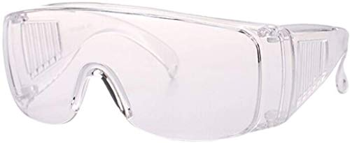 USDREAM Protective Goggles Eyewear UV Protection Coated Clear Lens Safety Glasses Personal Protective Equipment Outdoor Anti-Fog Transparent Glasses