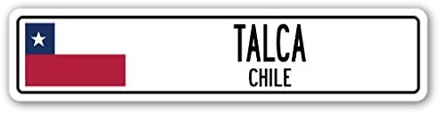 Amazon.com: Talca, Chile Street Sign Chilena Bandera Ciudad ...