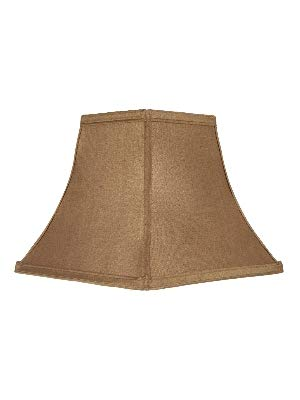 Upgradelights 8 Inch Clip On Square Bell Candlestick Replacement Lamp Shade in Bronze Silk (4x8x7)
