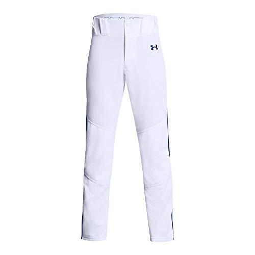 Mlb Baseball Pants - Under Armour Boys' Utility Relaxed Piped Baseball Pant, White (101)/Royal, Youth Medium