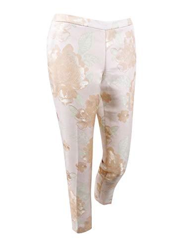 Calvin Klein Women's Floral -Print Metallic Pants (8, Nectar Multi)
