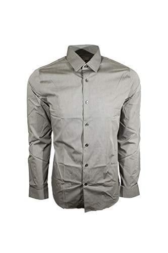 Express Men's 1MX Modern Fit Dress Shirt (Small, Grey) -