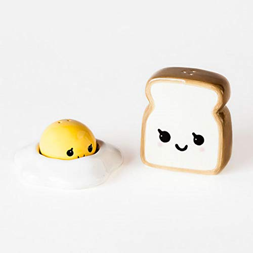 Ceramic Egg and Toast Salt and Pepper Shakers in Gift Box Cute Salt And Pepper Shakers