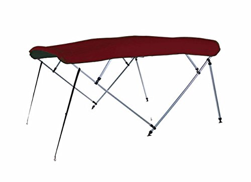 (7oz Maroon 4 Bow Square Tube Boat Bimini TOP Without Running Light Cutout Sunshade for Bass Tracker/Tracker / SUNTRACKER Party Barge 21 Signature 2007)