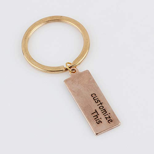 Key Chains - Customized Personal 1pcs Engraved Keychain Text Letter Key Chains DIY Gift for Women Men Family Friends Couples Keyring Jewelry - by Mct12-1 PCs