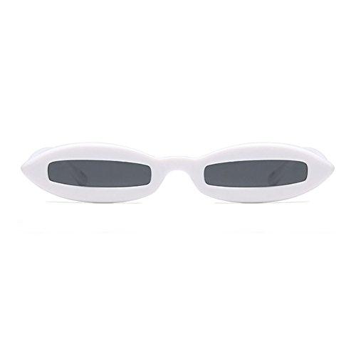 Todo Oval Gris moda Diseñador Blanco Frame de Sunglasses Eyewear Mujeres Small Oval Fashion Yefree 68qw7STS