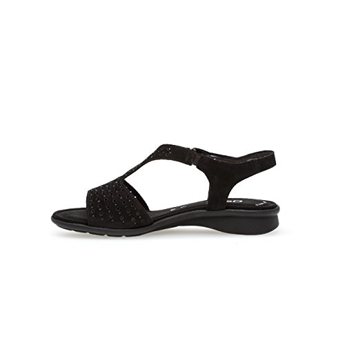 Gabor Womens Shoes 86.064.33 Sandali Da Donna, Sandali, Scarpe Estive, Scarpe Da Spiaggia, Più Spazio Grazie Al Comfort-larghezza, Disponibile In Oversize Nero