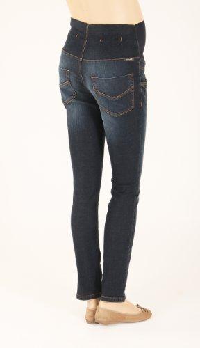 Christoff - Pantalón premamá skinny / slim fit para mujer, talla 40, color Azul