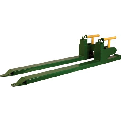 Load-Quip Aluminum Bucket Forks - 2600-Lb. Capacity, Green, Model 29211783 by Load-Quip (Image #1)