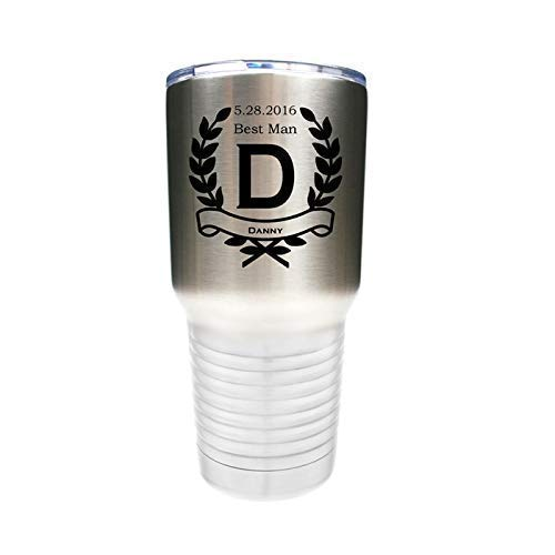 20 Name 12 30 ounce Name Tumbler Stainless Steel Custom Engraved with a Clear Lid including Choices of 10 Design Color Letter Straw and Spill Proof Slide Lid
