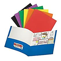 Office Depot(R) Brand 2-Pocket Portfolio, 9 1/2in. x 11 1/2in., Assorted Colors