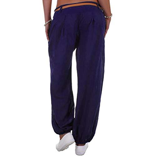 casuale dei vita donne di Eleganti casuale della sport Pantaloni Donna lunghi Casual lunghi pantaloni alta yoga Nero Elecenty stile Pantaloni 1BqaCw1Z