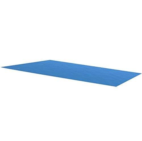 SKB Family Rectangular Pool Cover 102 x 63 inch PE Blue Solar Inground Blanket by SKB-family