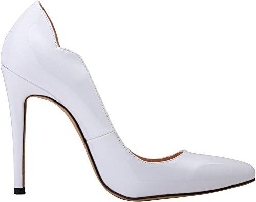 CFP , Damen Durchgängies Plateau Sandalen mit Keilabsatz , weiß - weiß - Größe: 40