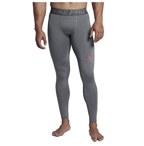 Nike Men's Hyperwarm Training Tights-Cool Grey-Large