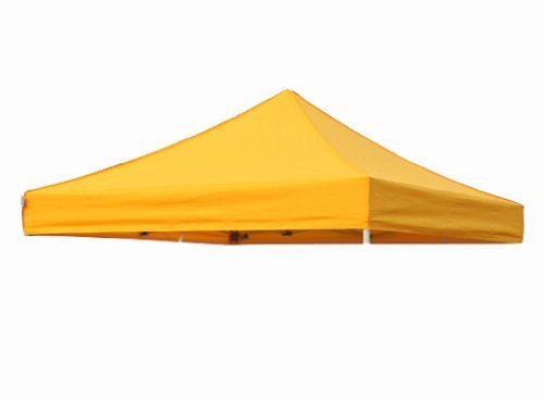 Eurmax New Pop up 10x10 Replacement Instant Ez Canopy Top Cover Choose 21 Colors (Gold) (Gold Canopy Tent)