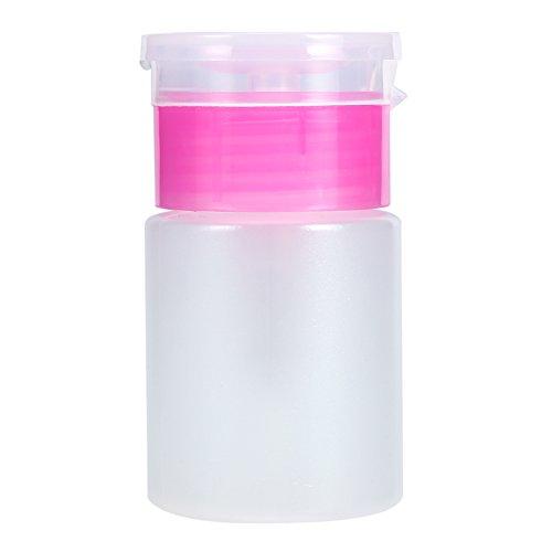 Botella de dispensador de uñas, limpiador de bomba Botella de plástico vacía para removedor de esmalte de uñas de arte...