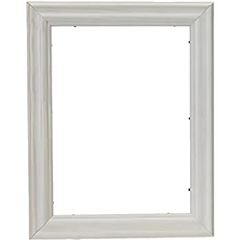 Amazon.com - ArtToFrames 9x12 inch Satin White Frame Picture Frame ...