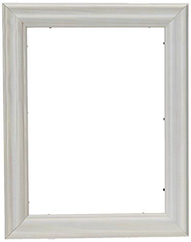 ArtToFrames 9x12 inch Off White Wash Barnwood Frame Wood Picture Frame, WOM0066-56673-YWHT-9x12