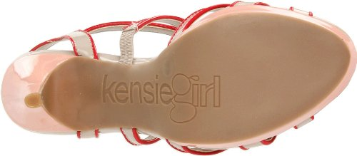 kensie - Sandalias de vestir para mujer Lunar Grey/Candy Apple