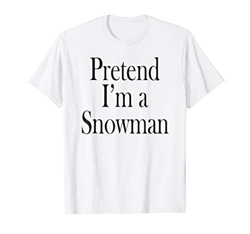 Snowman Costume T-Shirt for the Last Minute