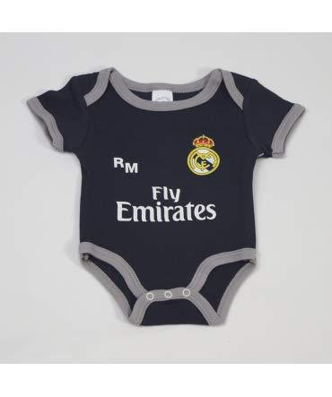 10XDIEZ Body Bebe Real Madrid 811 Marino-Gris - Tallas bebé - 1 Mes