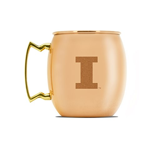 NCAA Illinois Fighting Illini 16oz Copper Moscow Mule Mug