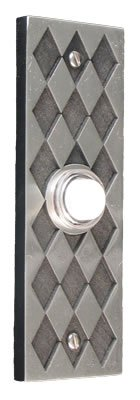 Diamond Rectangular Pewter Antique Doorbell