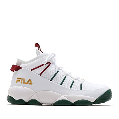Fila Men's Spaghetti Knit Sneakers (10.5 M, White/Green/Red) (Jerry Stackhouse Shoes)