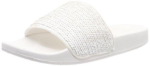 Ella Mules Esprit Femme white Sequins Blanc gqwFY1