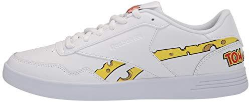 Reebok Men's Club MEMT Sneaker, White/Cold Grey/Bright Yellow, 4.5