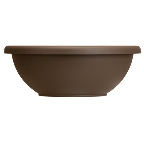 Pots Chocolate Flower - Akro-Mils GAB14000E21 Garden Bowl, Chocolate, 14-Inch