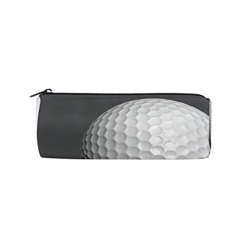Pen Golf Bag Shape - Pencil Case Cylinder Shape Holders Keep Calm Golf Ball Sport Pen Stationery Pouch Bag with Zipper Makeup