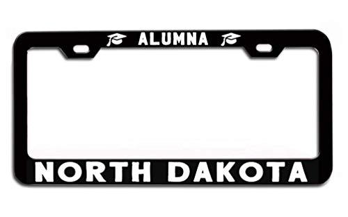 LOHIGHH North Dakota Alumna Universities University College Cap Graduate Black Metal License Plate Frame tag Holder Alumni