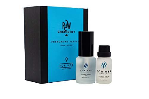RawChemistry Pheromone Perfume Gift Set, for Her [Attract Men] - Elegance, Extra Strength Human Pheromone Formula 1 Fl. Oz