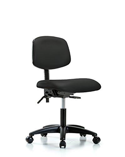 (LabTech Seating LT44205 Desk Height Chair, Vinyl, Nylon Base - Casters,)