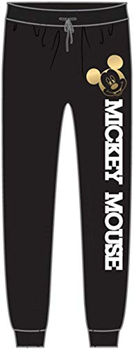Disney Adult Womens Pant Mickey Mouse Varsity Black Large