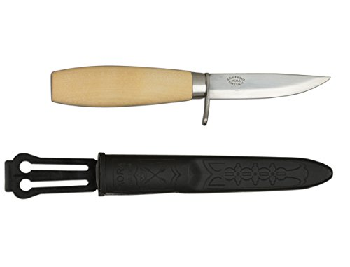 (Morakniv Wood Carving Junior 73/164 Knife with Carbon Steel Blade, 3.0-Inch)