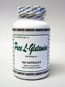Montiff - Pure L-Glutamine 500 mg 100 caps
