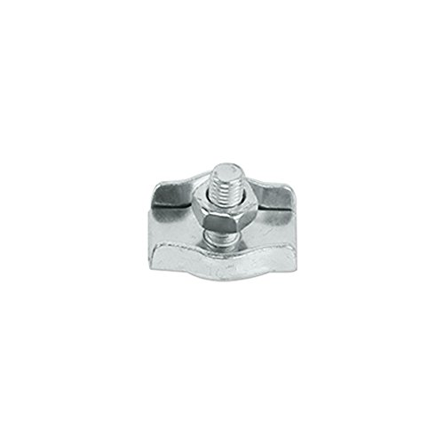 Galvanized Steel Simplex Single Post-style Wire Rope Clip - 3/16-inch (Rope Single Style)