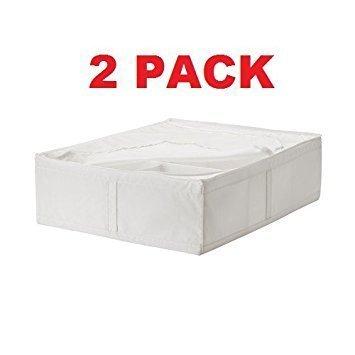 Ikea Storage Underbed Box Closet Zippered (2 Pack) White