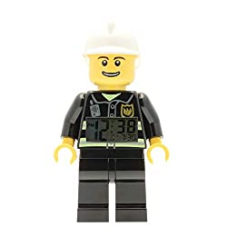 LEGO City Fireman Minifigure  Alarm Clock, 9.5, Black (Model: 9003844)