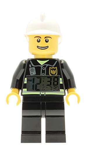 LEGO City Fireman Minifigure  Alarm Clock, 9.5
