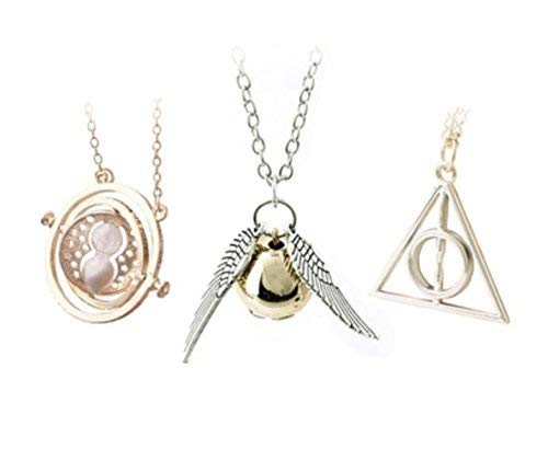 Silverlightl LLC Harry Potter Inspired 3 Piece Necklace Set ()