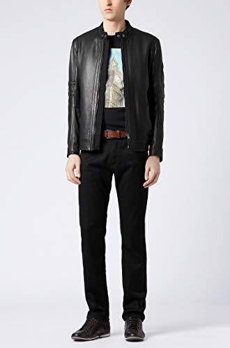 BOSS Mens Maine BC-C Regular-fit Jeans in Black-Black Stretch Denim Jeans [tag]