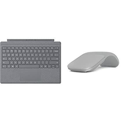 18e19fa059a Amazon.com: Microsoft Surface Pro Type Cover Platinum with Surface Arc Mouse  - Light Grey: Computers & Accessories